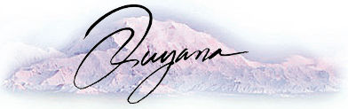 Quyana word over an image of Denali